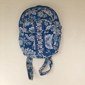 Blue and white Vera Bradley mini back pack